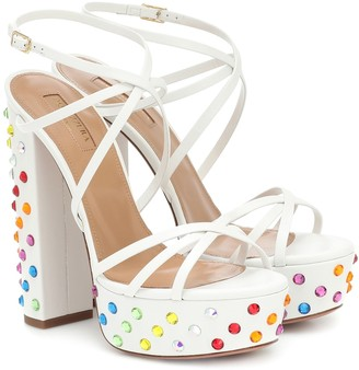 Aquazzura Disco Summer 140 platform sandals