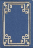 The Well Appointed House Surya Navy, Khaki and Taupe Alameda Rug-Available in a Variety of Sizes