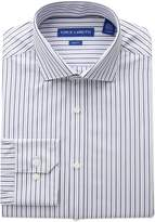 Vince Camuto Men's Slim Fit Classic Striped Dress Shirt, White/Blue
