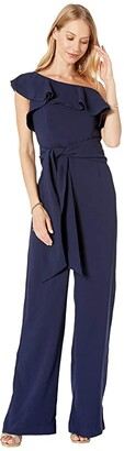 Lilly Pulitzer Lyra Jumpsuit (True Navy) Women's Jumpsuit & Rompers One Piece