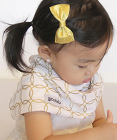 Gold & White Geometric Scabib