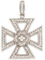 Jude Frances 18K Diamond Cross Pendant