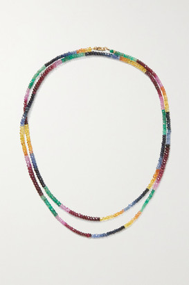 JIA JIA 14-karat Gold Sapphire Necklace - Red