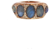 Jacquie Aiche Five Oval Labradorite Ring - Rose Gold