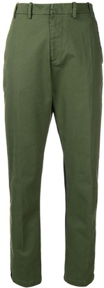 No.21 Contrast Fitted Trousers
