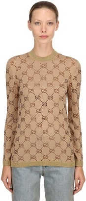 Gucci Gg Supreme Wool Jacquard Sweater