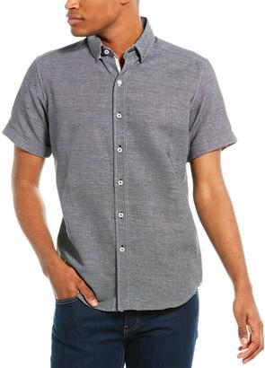 Robert Graham Liam Tailored Fit Linen-Blend Woven Shirt