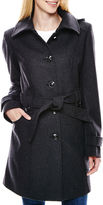 Liz Claiborne Hooded Wool-Blend Coat