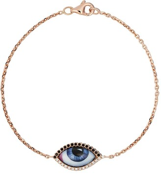 Lito 14kt rose gold Tu Es Partout diamond and enamel bracelet