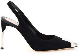 Alexander McQueen Pointed Toe Slingback Pumps