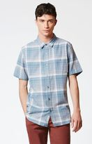 Modern Amusement Ahadar Plaid Short Sleeve Button Up Shirt