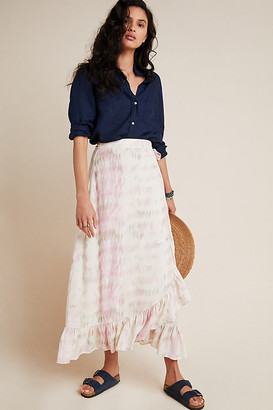 Mae DOLAN Collection Tie-Dyed Midi Skirt By Dolan Left Coast in Purple Size XS