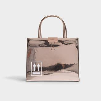 Off-White Off White Mirror Mini Box Bag In Metallic Calfskin