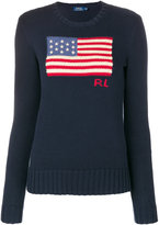 Polo Ralph Lauren flag embroidered jumper