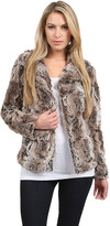 Dylan Textured Fur Button Jacket in Earth