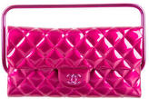 Chanel Metallic Clutch w/ Handle