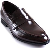 JustOneStyle New Mooda Fashion Modern Penny Loafers Slips on Leather Men Dress Shoes
