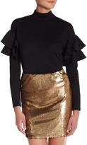 Romeo & Juliet Couture Long Sleeve Flare Shoulder Shirt