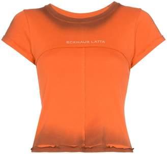 Eckhaus Latta Lapped logo print T-shirt