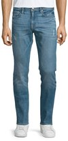 Frame L'Homme Russell Distressed Washed Denim Jeans, Cave