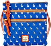 Dooney & Bourke Los Angeles Dodgers Triple Zip Crossbody Bag