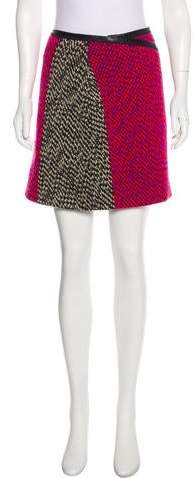 Fendi Bouclé Mini Skirt
