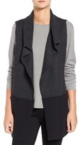 Eileen Fisher Women's Colorblock Boiled Wool Funnel Neck Vest