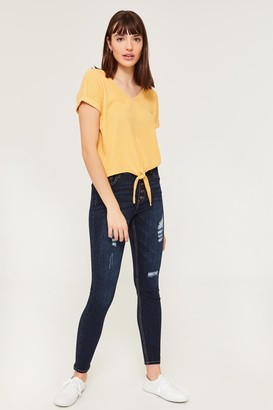 Ardene High Rise Buttoned Jeggings