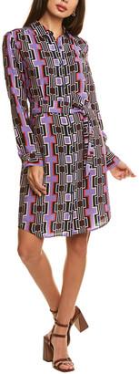 Trina Turk Lambrusco Silk Shirtdress