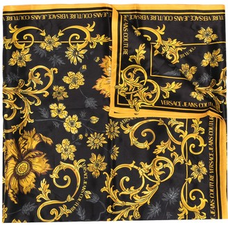 Versace Jeans Couture Floral-Print Silk Scarf
