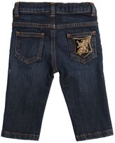 Dolce & Gabbana Crest Patch Stretch Denim Jeans