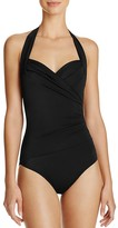Norma Kamali Sweetheart Halter One Piece Swimsuit
