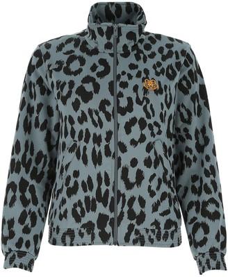 Kenzo Tiger Logo Embroidered Leopard Print Jacket
