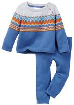 Cuddl Duds Fairisle Raglan Sweater & Cuddl Pant 2-Piece Set (Baby Boys)