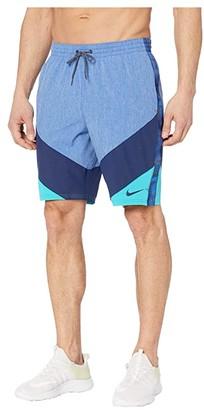 Nike 9 Logo Tape Vortex Volley Shorts (Iron Grey) Men's Swimwear