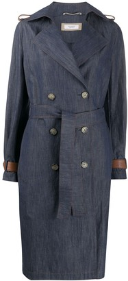 Peserico Double Breasted Denim Coat