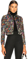 Fendi FF Jacquard Jacket in Abstract,Black,Red.