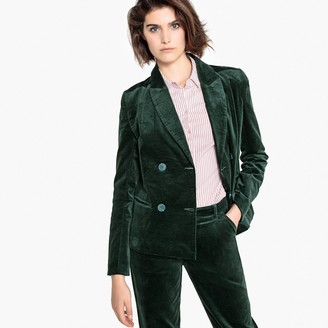La Redoute Collections Double-Breasted Velvet Blazer