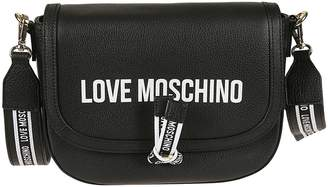 Love Moschino Flap Printed Shoulder Bag