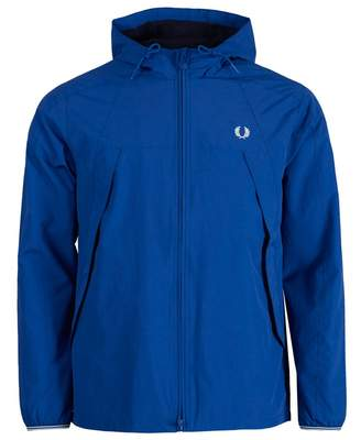 Fred Perry Authentics Panel Zip Through Hooded Jacket Colour: BLACK, S