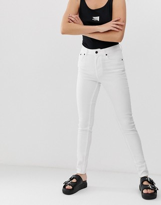Cheap Monday 5 pocket skinny jeans with organic cotton-White