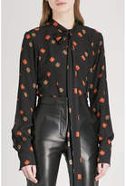 J.W.Anderson Floral and polka dot-print crepe and silk blouse