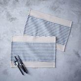 west elm + Whole Foods Market® Placemat Set - Dark Stripes