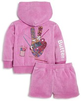 Butter Shoes Girls' Peace Sign Hoodie & Shorts Set - Little Kid