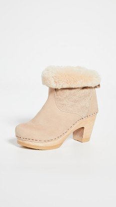 NO.6 STORE Pull On Shearling High Heel Boots