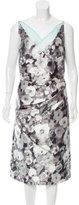 Oscar de la Renta Silk Floral Print Dress w/ Tags