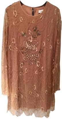 Ash Beige Lace Dress for Women