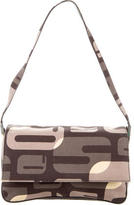 Sergio Rossi Print Canvas Shoulder Bag