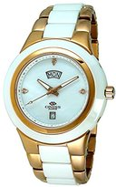 Mother of Pearl Oniss Paris Women's ON436-MRG/WHT Analog High-Tech Ceramic Case Mother-Of-Pearl Dial Swiss-Quartz Watch