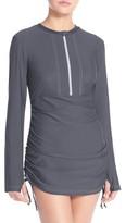 Women's Mott 50 'Sonja' Long Sleeve Half Zip Convertible Swimdress